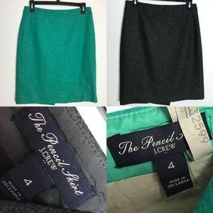 2 J.Crew #2 Pencil skirts EUC size 4